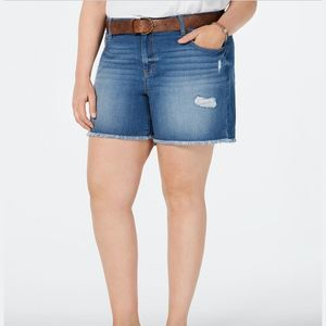 Style & Co Jean Shorts Frayed 20W New